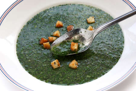 jewish cuisine: molokhia soup, egyptian spinach soup