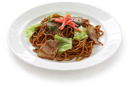 yakisoba: yakisoba, japanese stir-fried noodles Stock Photo