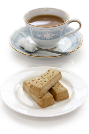 crumbly: shortbread and a cup of milk tea
