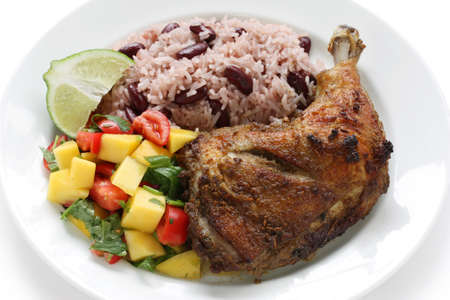 jerk chicken plate, jamaican food
