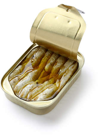 sardine: sardine in scatola in olio Archivio Fotografico