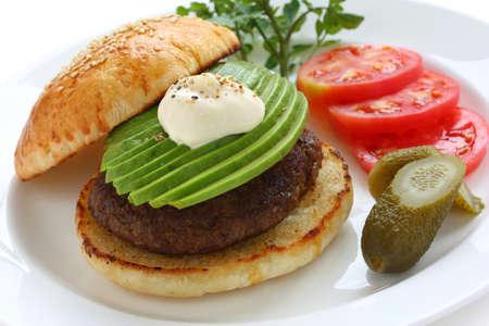 avocado burger photo
