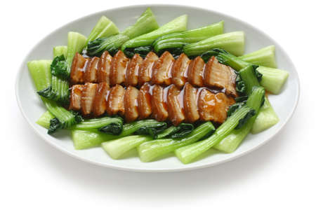 sliced braised pork belly, chinese cuisine photo