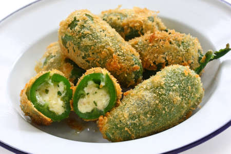 jalapeno pepper: jalapeno poppers Stock Photo