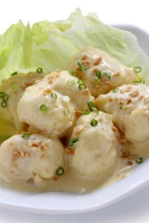 shrimp with mayonnaise sauce, chinese cuisine photo