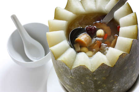 dried gourd: winter melon soup, chinese cuisine