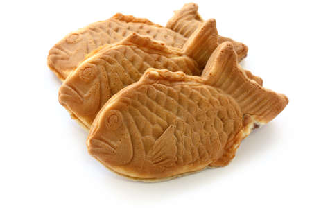taiyaki, japanese fish shape cake photo