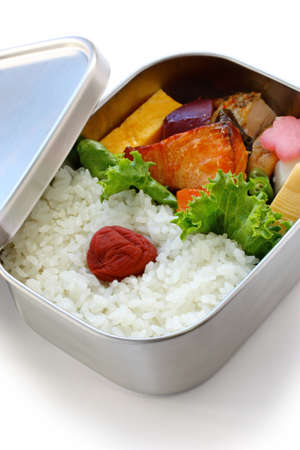 out to lunch: bento, japanese boxed lunch Stock Photo