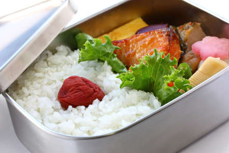 boxed: bento, japanese boxed lunch Stock Photo