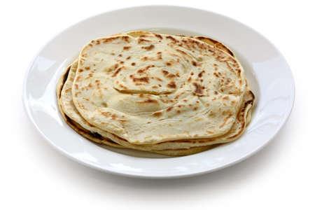 parotta, south indian layered flat bread photo