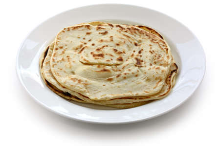 southern indian: parotta, south indian layered flat bread