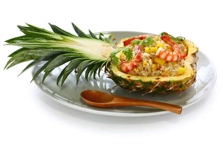 to stir up: pineapple fried rice