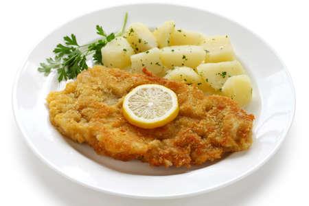wiener schnitzel, austrian cuisine photo