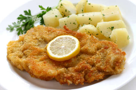cutlets: wiener schnitzel, austrian cuisine Stock Photo