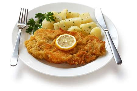 cutlet: wiener schnitzel, austrian cuisine Stock Photo