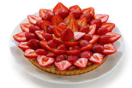 flan: homemade strawberry tart