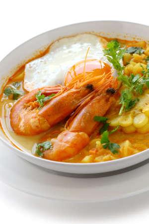 chowder: chupe de camarones, peruvian shrimp chowder