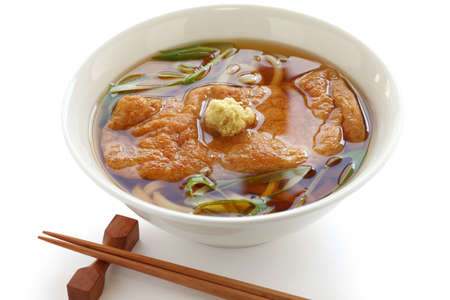 bean curd: kitsune udon noodles, japanese cuisine Stock Photo
