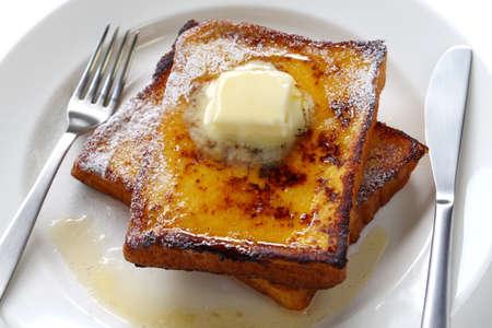 egg nog: egg nog french toast Stock Photo