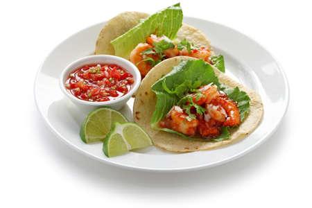 shrimp tacos, mexican cuisine photo
