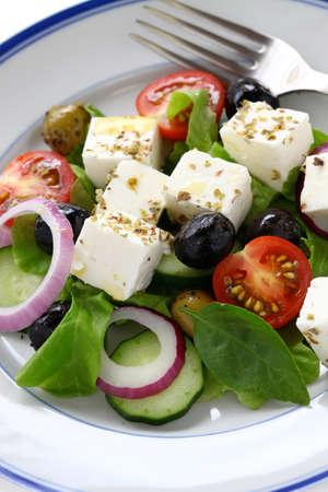 greek salad: greek salad, greek cuisine Stock Photo