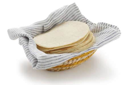 tortillas: homemade corn tortillas, mexican food Stock Photo