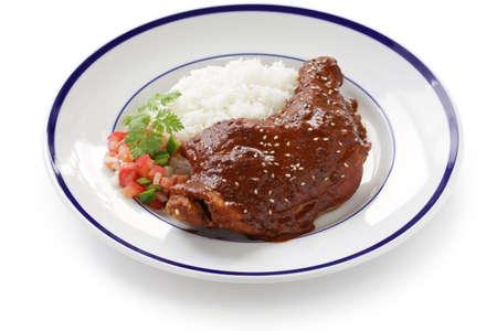 mole: chicken mole mexican cuisine