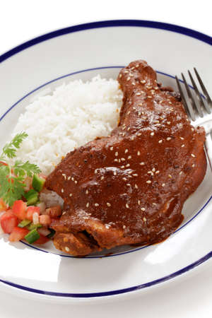 chicken mole mexican cuisine photo