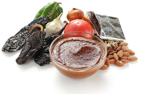 salsa de mole, cocina mexicana Foto de archivo