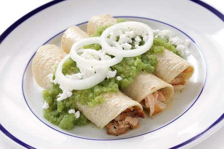 verde: chicken enchiladas verde, mexican cuisine