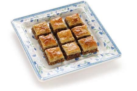 baklawa: homemade baklava, turkish dessert Stock Photo