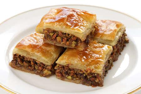 自家製のバクラヴァ、トルコのデザート