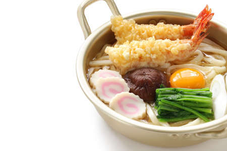 nabeyaki udon, Japanse hot pot noedels Stockfoto