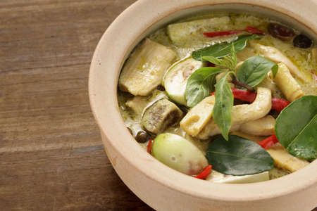 vegetable curry: green curry, thai cuisine