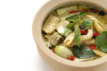 green curry, thai cuisine photo