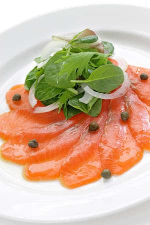 starter: smoked salmon salad