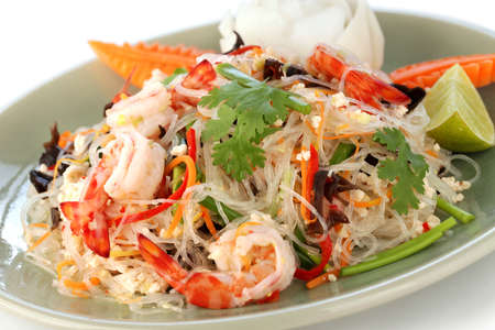 yam wun sen, thai mung bean noodle salad photo