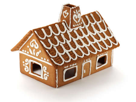 christmas gingerbread: gingerbread house Stock Photo