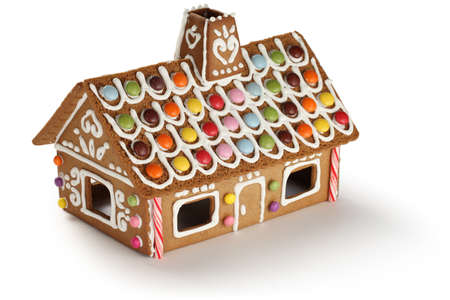 casita de dulces: Gingerbread House Foto de archivo