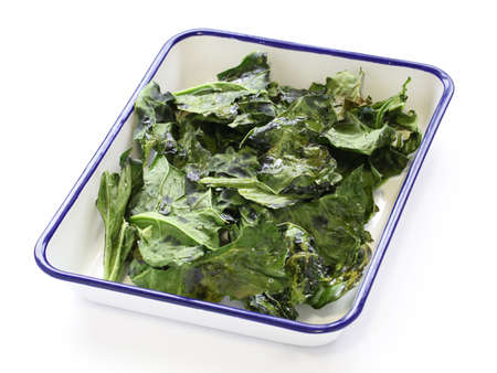 kale: kale chips Stock Photo