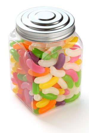 jelly beans: fagioli di gelatina in un barattolo