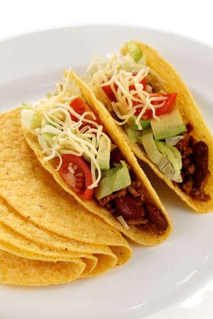 mexican food: tacos de carne, comida mexicana