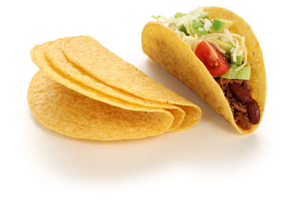 minced beef: beef tacos, mexican food