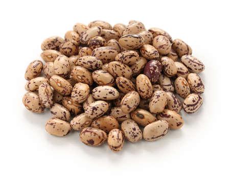 borlotti beans: borlotti beans on a white background Stock Photo