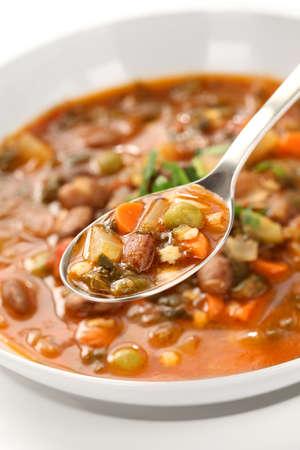 roman beans: minestrone, italian vegetable soup