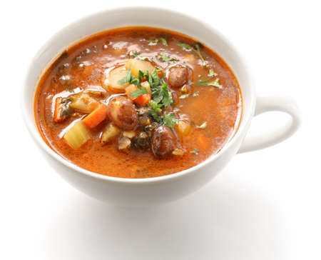 minestrone, italian vegetable soup Stock Photo - 17041899