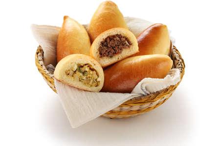 russian food: piroshki, pirozhki, russian food