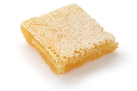 Honey comb: comb honey isolated on a white background Stock Photo
