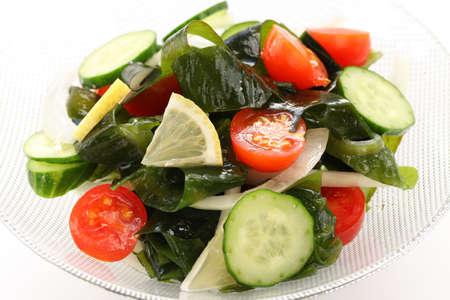 calorie: wakame seaweed salad, low calorie vegetarian food