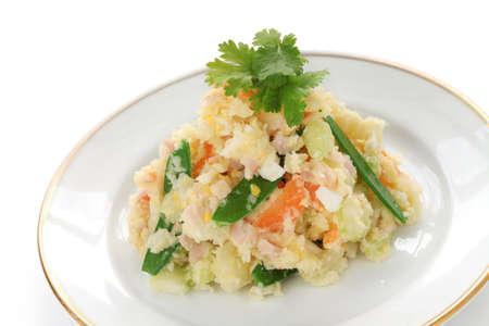 side salad: potato salad Stock Photo